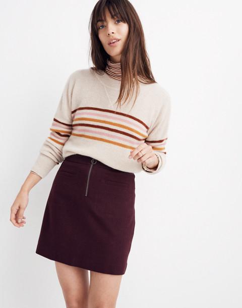 Fireside Mini Skirt in rich plum image 1