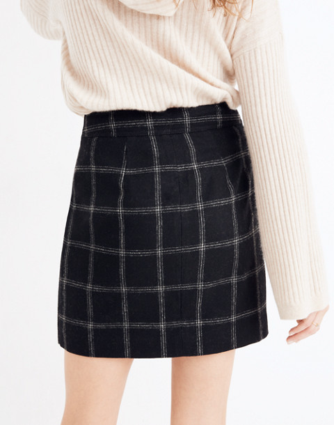 Plaid Fireside Mini Skirt in balsam plaid black image 3