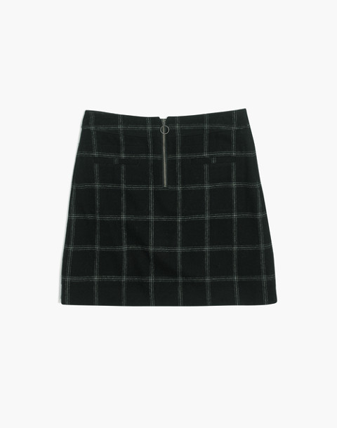 Plaid Fireside Mini Skirt in balsam plaid black image 4
