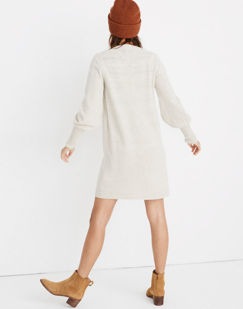 Bubble-Sleeve Sweater-Dress in hthr fog image 3