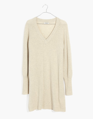 Bubble-Sleeve Sweater-Dress in hthr fog image 4