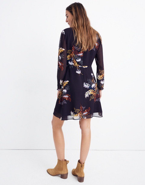 Lilyblossom Button-Front Dress in Blooming Oasis in harvest dark eggplant image 3
