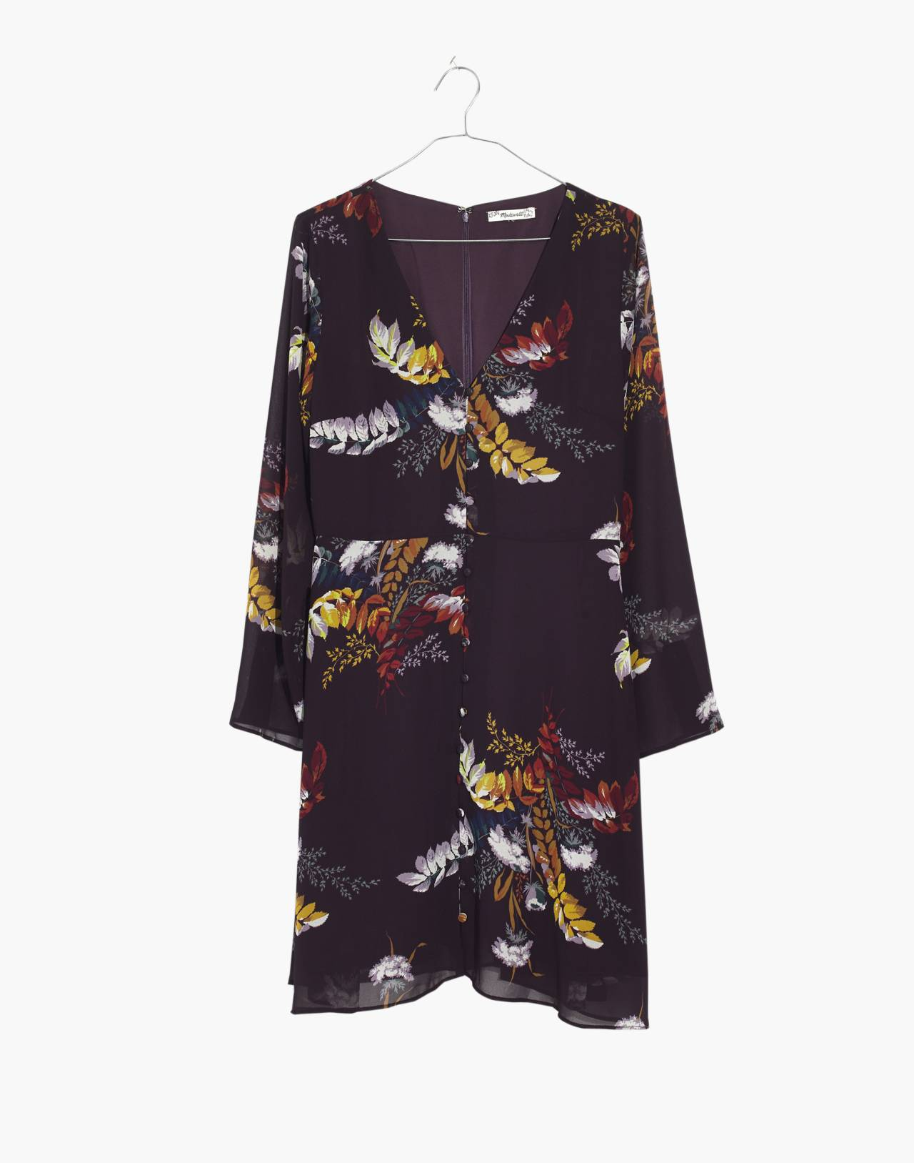 Lilyblossom Button-Front Dress in Blooming Oasis in harvest dark eggplant image 4