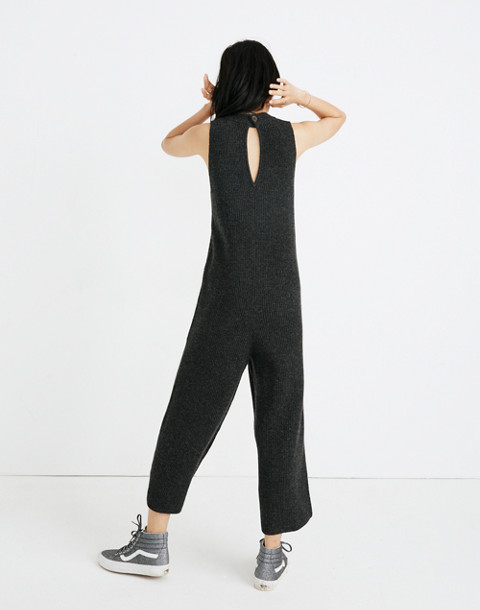 Wide-Leg Sweater-Jumpsuit in hthr charcoal image 3
