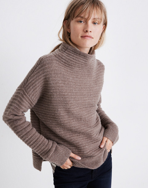 Belmont Mockneck Sweater in Coziest Yarn in hthr root image 2