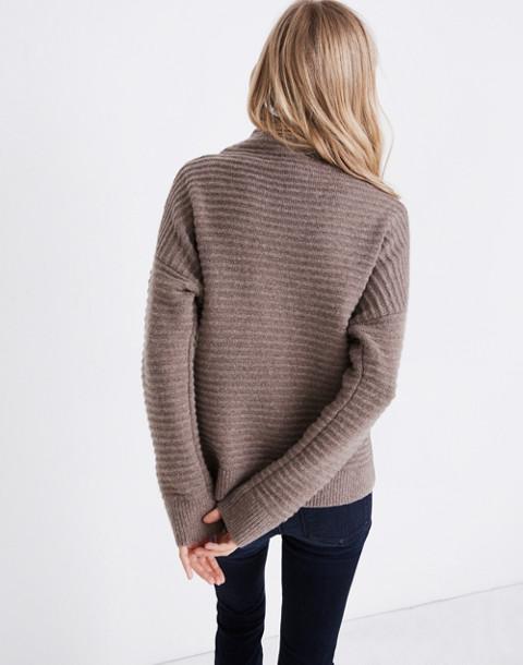 Belmont Mockneck Sweater in Coziest Yarn in hthr root image 3
