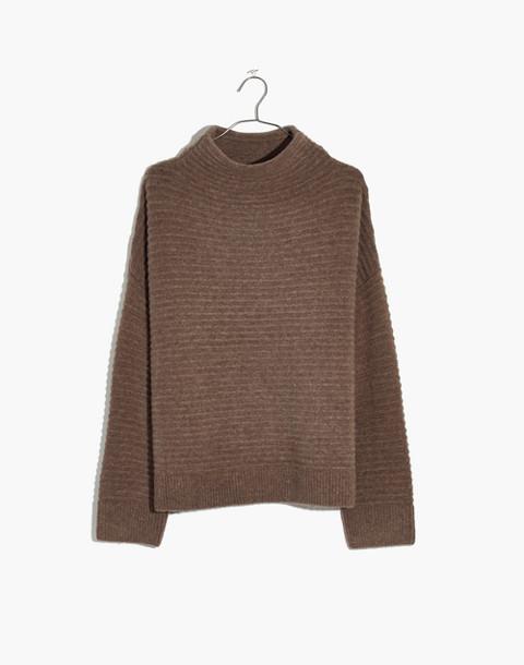 Belmont Mockneck Sweater in Coziest Yarn in hthr root image 4