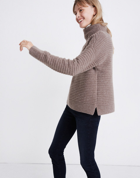 Belmont Mockneck Sweater in Coziest Yarn in hthr root image 1