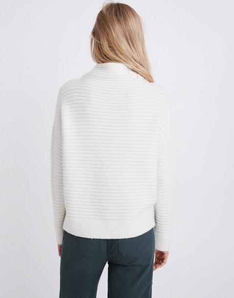 Belmont Mockneck Sweater in Coziest Yarn in antique cream image 3
