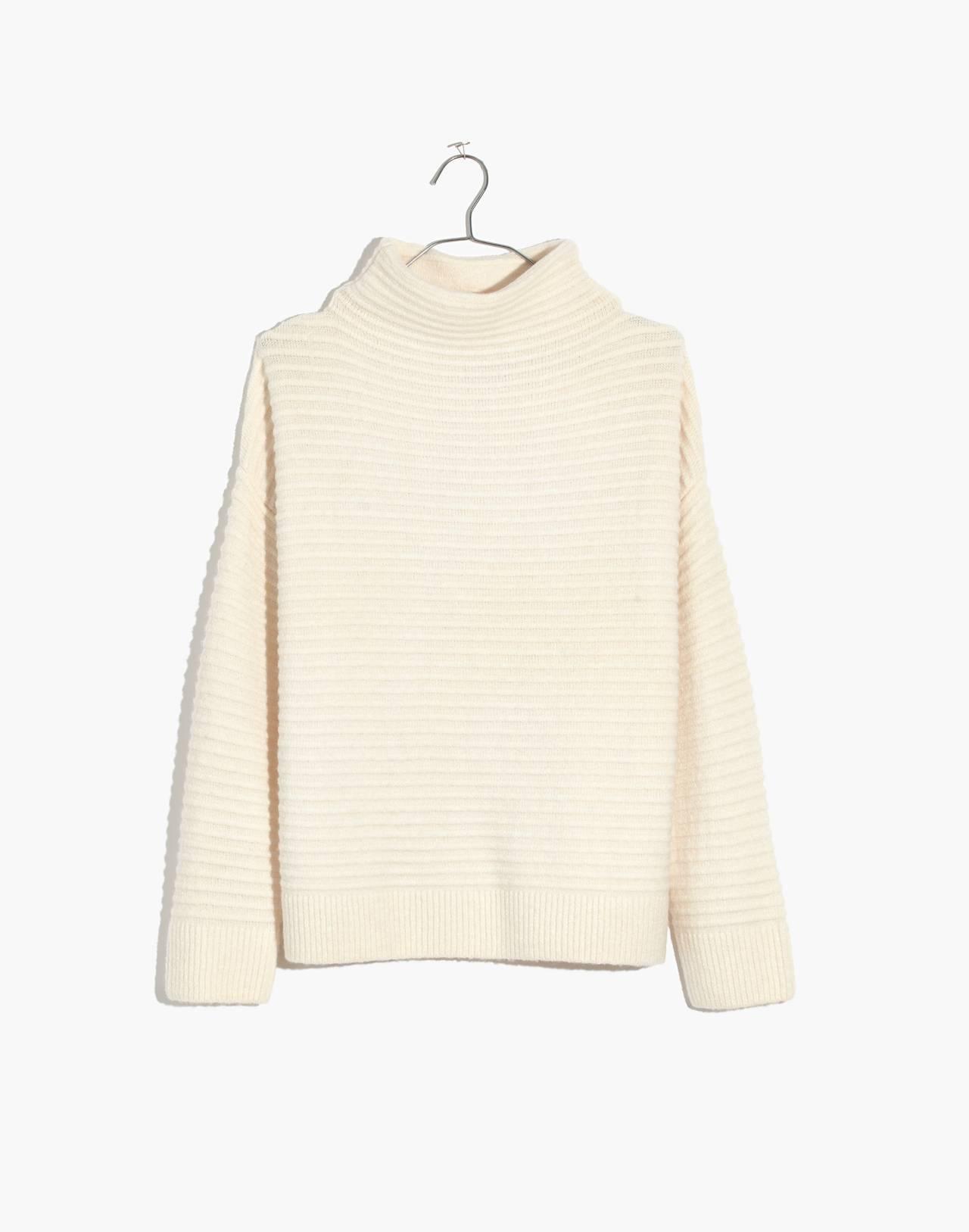 Belmont Mockneck Sweater in Coziest Yarn in antique cream image 4
