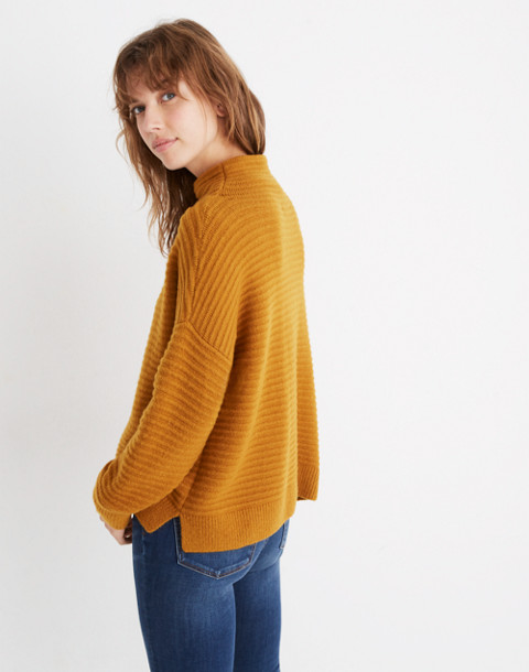 Belmont Mockneck Sweater in Coziest Yarn in golden harvest image 3