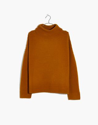 Belmont Mockneck Sweater in Coziest Yarn in golden harvest image 4