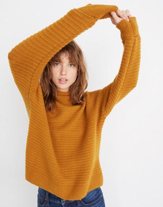 Belmont Mockneck Sweater in Coziest Yarn in golden harvest image 1