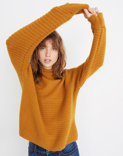 Belmont Mockneck Sweater in Coziest Yarn in golden harvest image 1