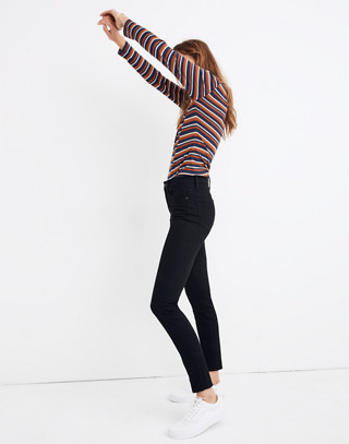 """Petite 9"""" High-Rise Skinny Jeans in Black Frost: THERMOLITE® Edition in black frost image 2"""