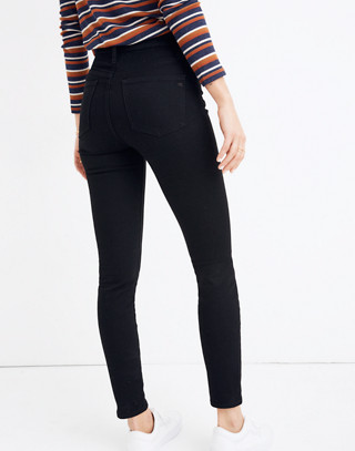 """Petite 9"""" High-Rise Skinny Jeans in Black Frost: THERMOLITE® Edition in black frost image 3"""