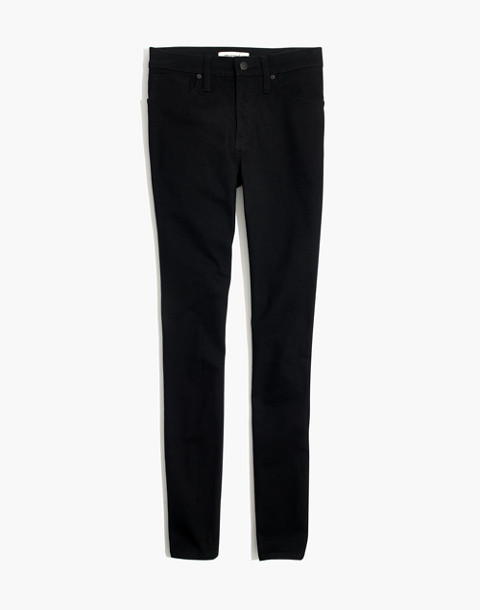"9"" High-Rise Skinny Jeans in Black Frost: THERMOLITE® Edition in black frost image 4"