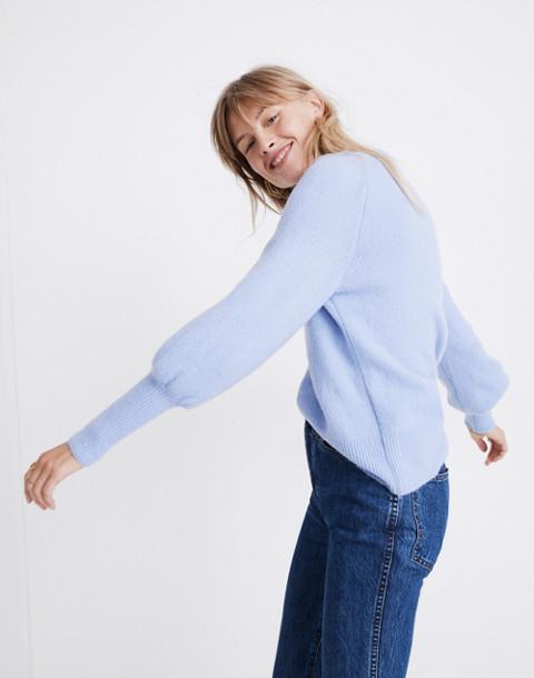 Dashwood V-Neck Sweater in Coziest Yarn in heather perri image 2