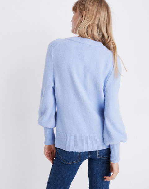Dashwood V-Neck Sweater in Coziest Yarn in heather perri image 3