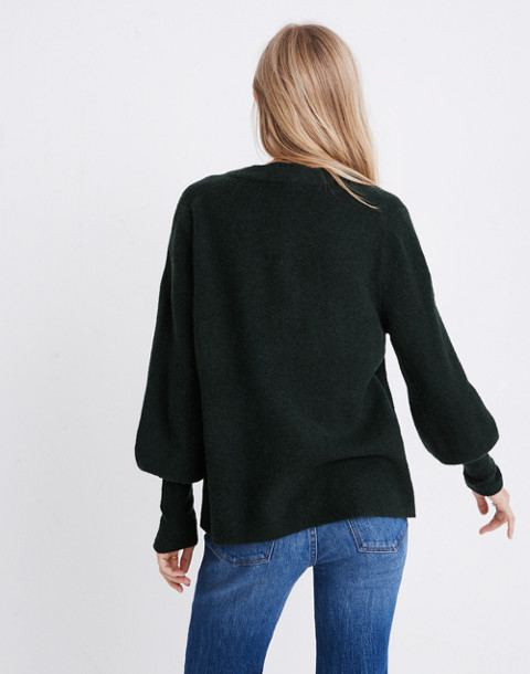 Dashwood V-Neck Sweater in Coziest Yarn in heather forest image 2