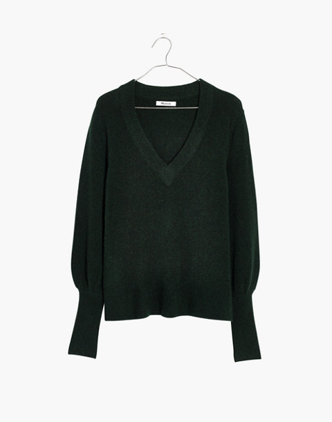 Dashwood V-Neck Sweater in Coziest Yarn in heather forest image 4