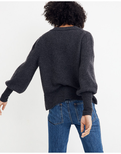 Dashwood V-Neck Sweater in Coziest Yarn in heather chimney image 3