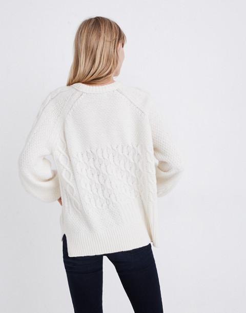 Copenhagen Cable Sweater in antique cream image 3