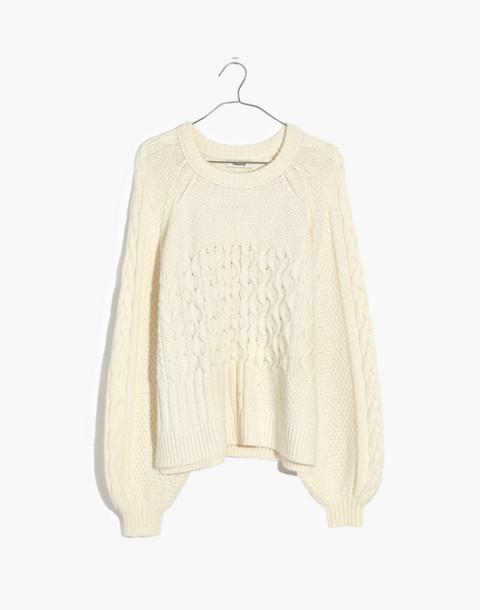 Copenhagen Cable Sweater in antique cream image 4