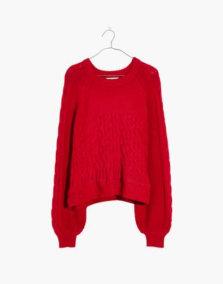 Copenhagen Cable Sweater in enamel red image 4