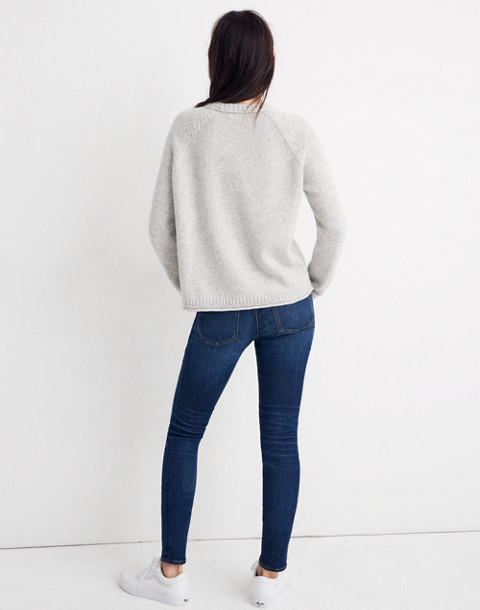 Dreamer Embroidered Keaton Pullover Sweater in heather pebble image 3