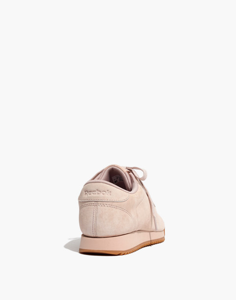 Reebok® Princess Ripple Sneakers in Pink Suede in winter fruit bare beige image 4