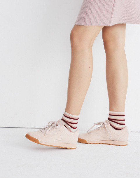 Reebok® Princess Ripple Sneakers in Pink Suede in winter fruit bare beige image 2