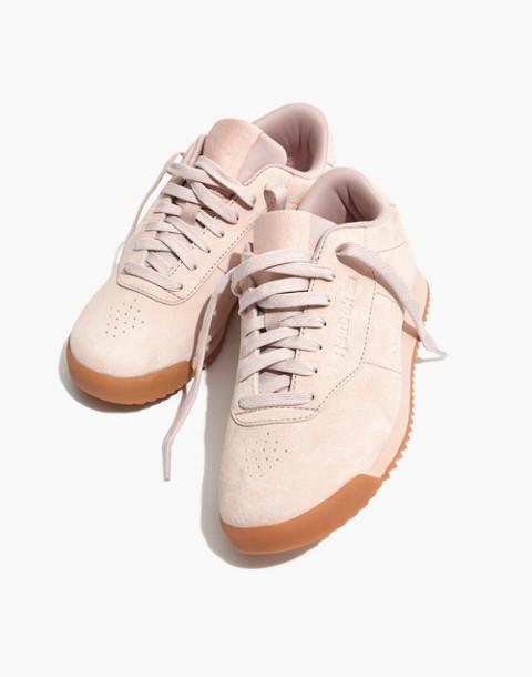 Reebok® Princess Ripple Sneakers in Pink Suede in winter fruit bare beige image 1
