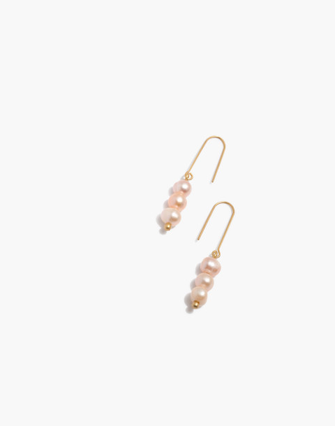 Pearl Drop Earrings in pink oyster oearl image 1