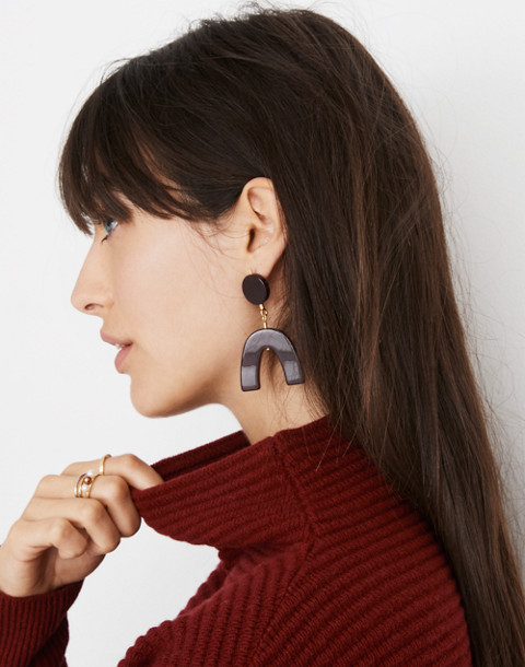 Shapes Statement Earrings in pinot noir image 2