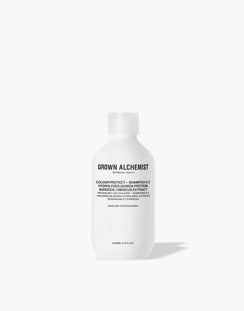 GROWN ALCHEMIST® Colour Protect Shampoo 0.3: Hydrolyzed Quinoa Protein, Burdock and Hibiscus Extract