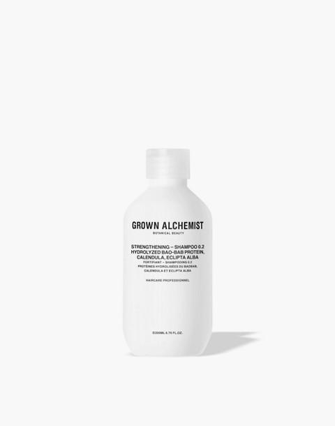 GROWN ALCHEMIST® Strengthening Shampoo 0.2: Hydrolyzed Bao-Bab Protein, Calendula and Eclipta Alba
