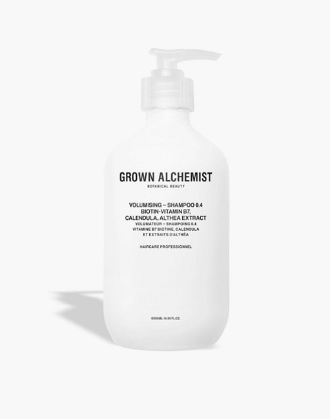 GROWN ALCHEMIST® Extra Large Volumising Shampoo 0.4: Biotin-Vitamin B7, Calendula and Althea Extract in one color image 1