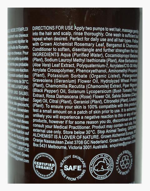 GROWN ALCHEMIST® Nourishing Shampoo 0.6: Damask Rose, Black Pepper and Sage in one color image 2