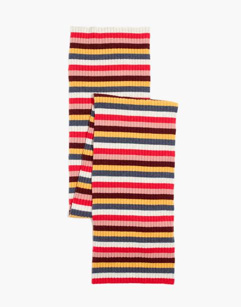 Carousel Stripe Scarf in salsa red multi image 2
