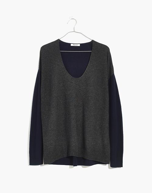 c604d4f8ba Kimball Pullover Sweater in Colorblock in dark indigo image 1