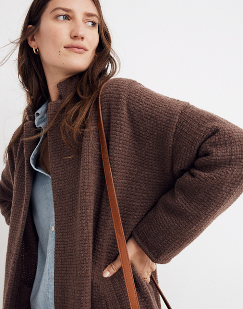Chilton Sweater-Coat in heather cocoa image 2