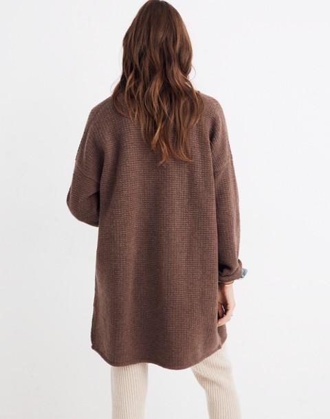 Chilton Sweater-Coat in heather cocoa image 3