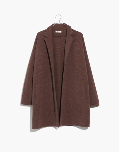 Chilton Sweater-Coat in heather cocoa image 4