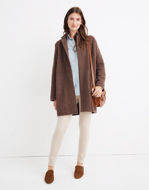 Chilton Sweater-Coat in heather cocoa image 1