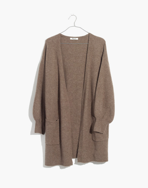 Edgewater Bubble-Sleeve Cardigan Sweater in hthr root image 4