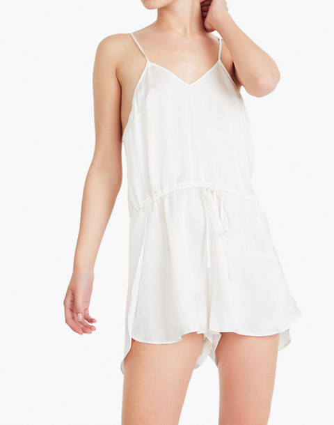 The Great Eros® Silk Dia Teddy Romper in white image 2
