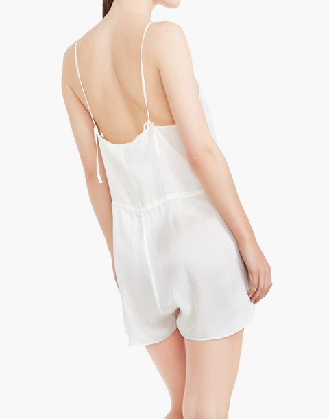 The Great Eros® Silk Dia Teddy Romper in white image 3
