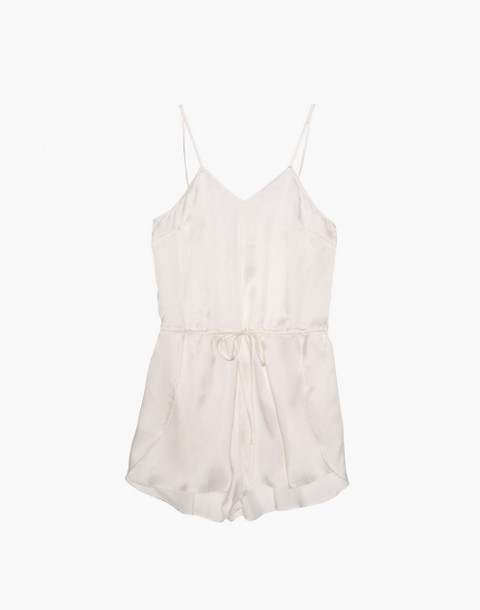 The Great Eros® Silk Dia Teddy Romper in white image 4