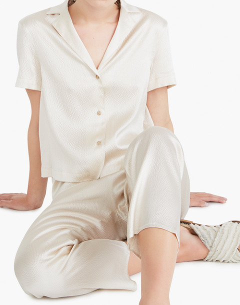 The Great Eros® Silk Odessa Camp Shirt in natural image 2